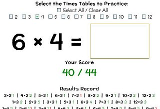 Online times table trainer
